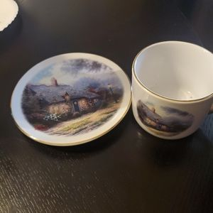"Thomas Kinkade"" Moonlight Cottage"" Cup and Saucer"